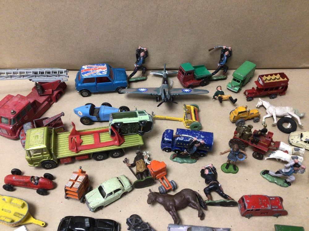 MIXED PLAY WORN DIE-CAST TOYS VEHICLES, MATCHBOX, LESNEY, AND CORGI - Image 4 of 4