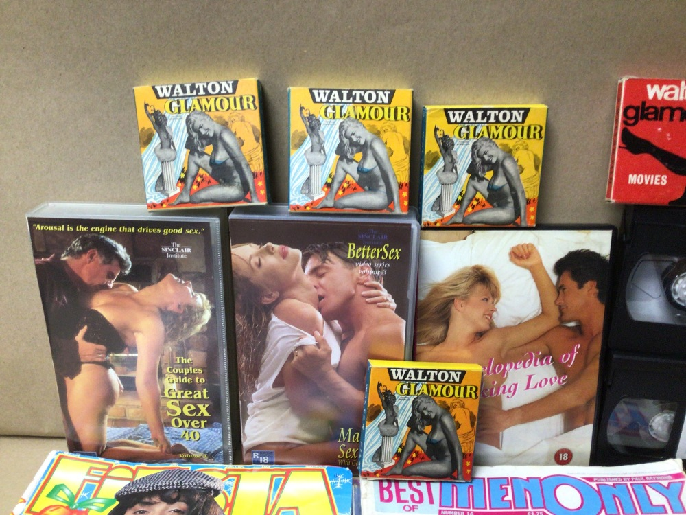 A MIXED QUANTITY OF ADULT MAGAZINES, DVD AND TAPES. WALTON GLAMOUR, AND FIESTA AND MORE - Image 3 of 4