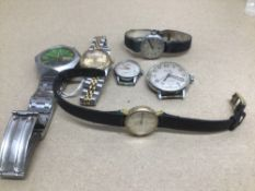 MIXED LADIES AND GENTLEMAN'S WATCHES, GENTS AUTOMATIC MIRAX AND A MICHEL HERBELIN LADIES WATCH AND