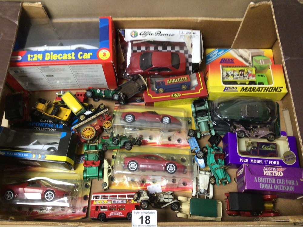 A MIXED BOX OF DIE-CAST TOY VEHICLES SOME BOXED LESNEY, LLEDO, AND MODELS OF YESTERYEAR - Image 2 of 4