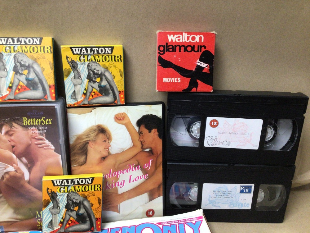 A MIXED QUANTITY OF ADULT MAGAZINES, DVD AND TAPES. WALTON GLAMOUR, AND FIESTA AND MORE - Image 4 of 4
