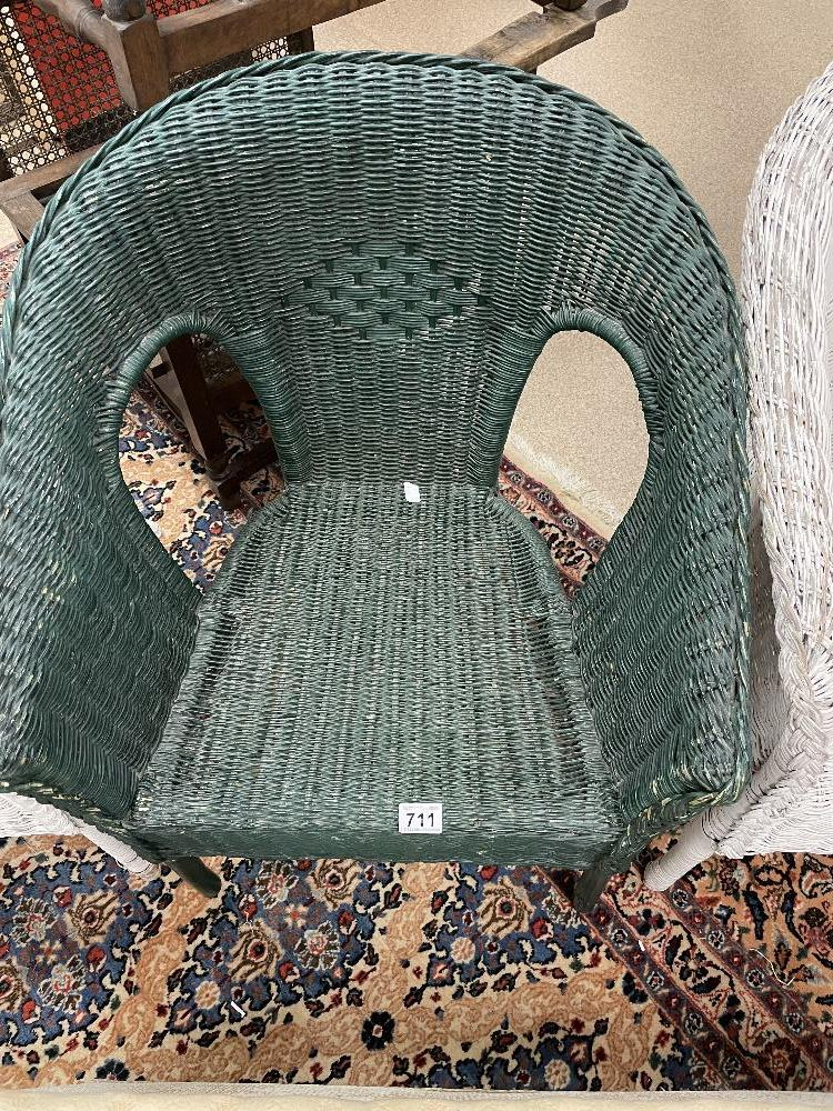 THREE LLOYD LOOM STYLE CHAIRS WITH A LINEN BASKET - Image 3 of 9