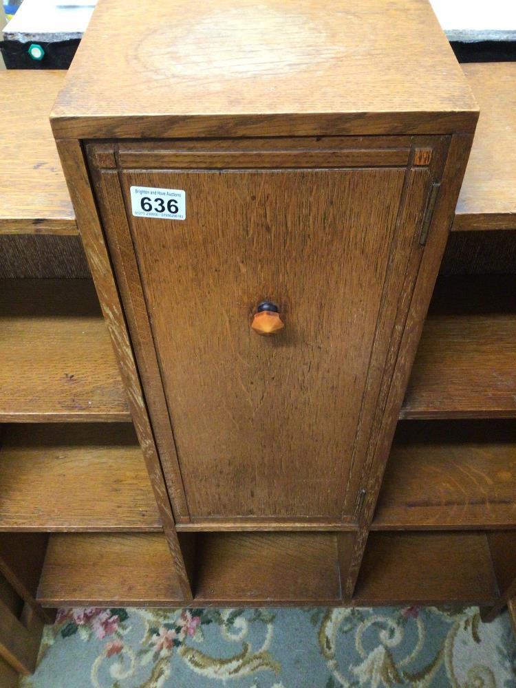AN ART DECO CABINET WITH SHELVES, 79 X 23 X 97CM - Image 2 of 3