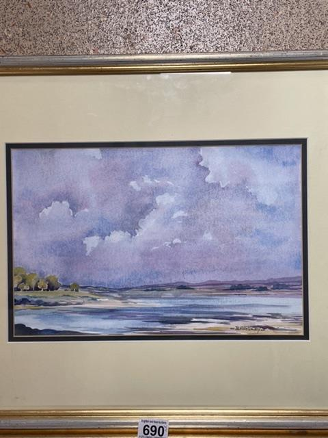 BRADLEY TWO SIGNED FRAMED AND GLAZED WATERCOLOURS BY LOCAL ARTIST, (BRIGHTON PIER AND AFTER THE - Image 5 of 10