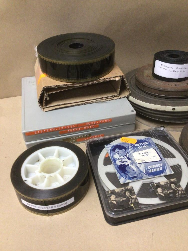 A QUANTITY OF VINTAGE FILM REELS, WALTON FILMS, LAUREL AND HARDY, ANGLESEY COAST AND COUNTRYSIDE, - Image 2 of 5