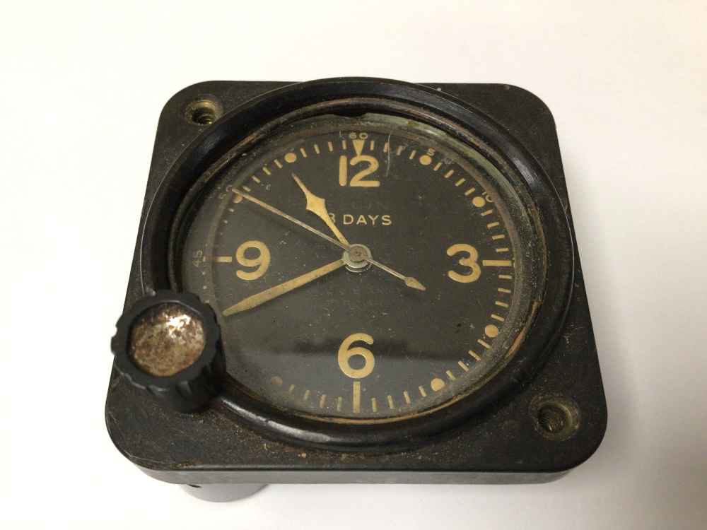A WWI 1943 US AIRCRAFT ELGIN 8 DAY CLOCK, 6CM - Image 2 of 4