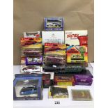 A COLLECTION OF MIXED DIE-CAST BOXED TOYS, ERTL, LLEDO, CORGI AND MORE