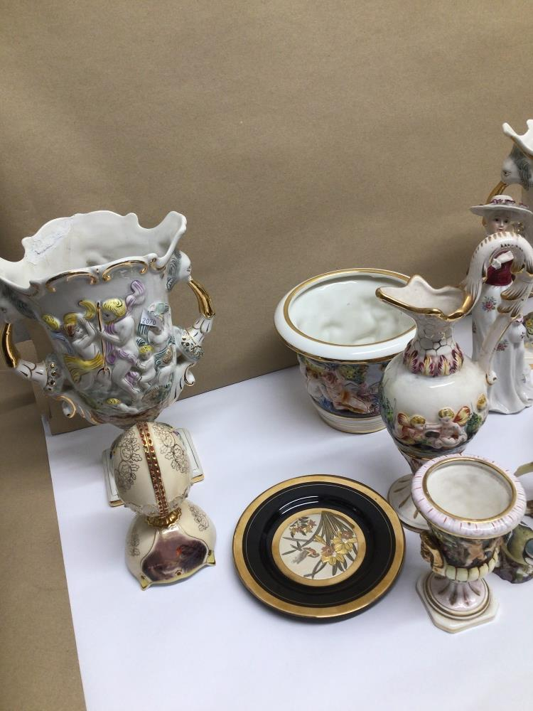 A QUANTITY OF MIXED CHINA ITEMS, CAPO DI MONTE, ROYAL WORCESTER BLUE TIT - Image 5 of 8