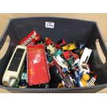 A MIXED COLLECTION OF DIE-CAST MODEL VEHICLES INCLUDES LLEDO, LESNEY, CORGI AND MORE