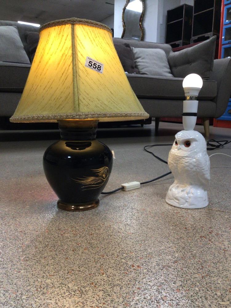 TWO KITCH LAMPS ONE HAVING A SEA BED THEME - Image 2 of 2