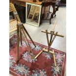 TWO WOODEN FOLDING EASELS