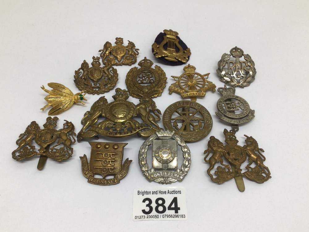 A QUANTITY OF MILITARY BADGES