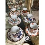 SPODE CHINA LIMITED EDITION COFFEE CUPS AND SAUCERS