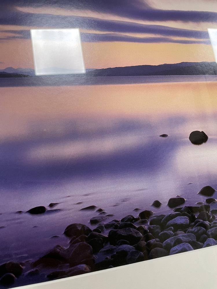 DAVID NOTON, TITLED SCOTTISH HIGHLANDS, LOCH RANNOCK AT DUSK PHOTOGRAPH FRAMED AND GLAZED, 108 X - Image 2 of 8