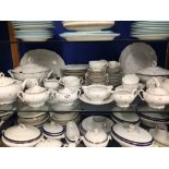 AN EXTENSIVE COLLECTION OF CZECHOSLOVAKIA CHINA DINNER AND TEA SERVICE