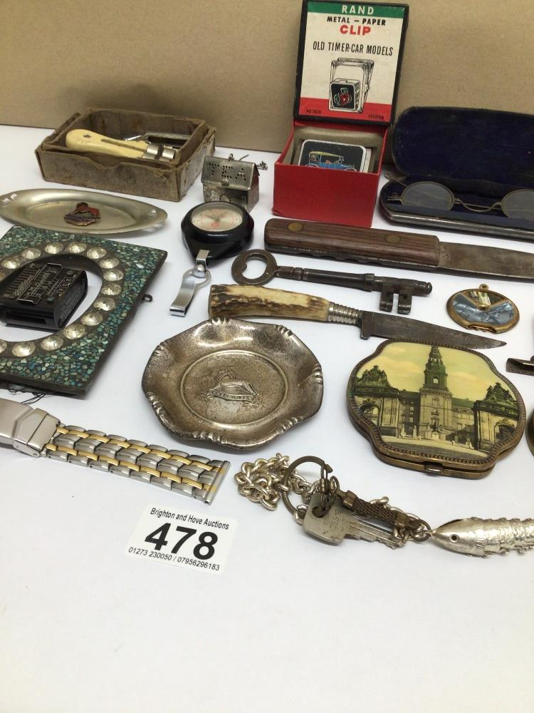 MIXED ITEMS INCLUDES STAHWX HORN HANDLE KNIFE, PICTURE FRAME, GLASSES AND MORE - Image 7 of 7