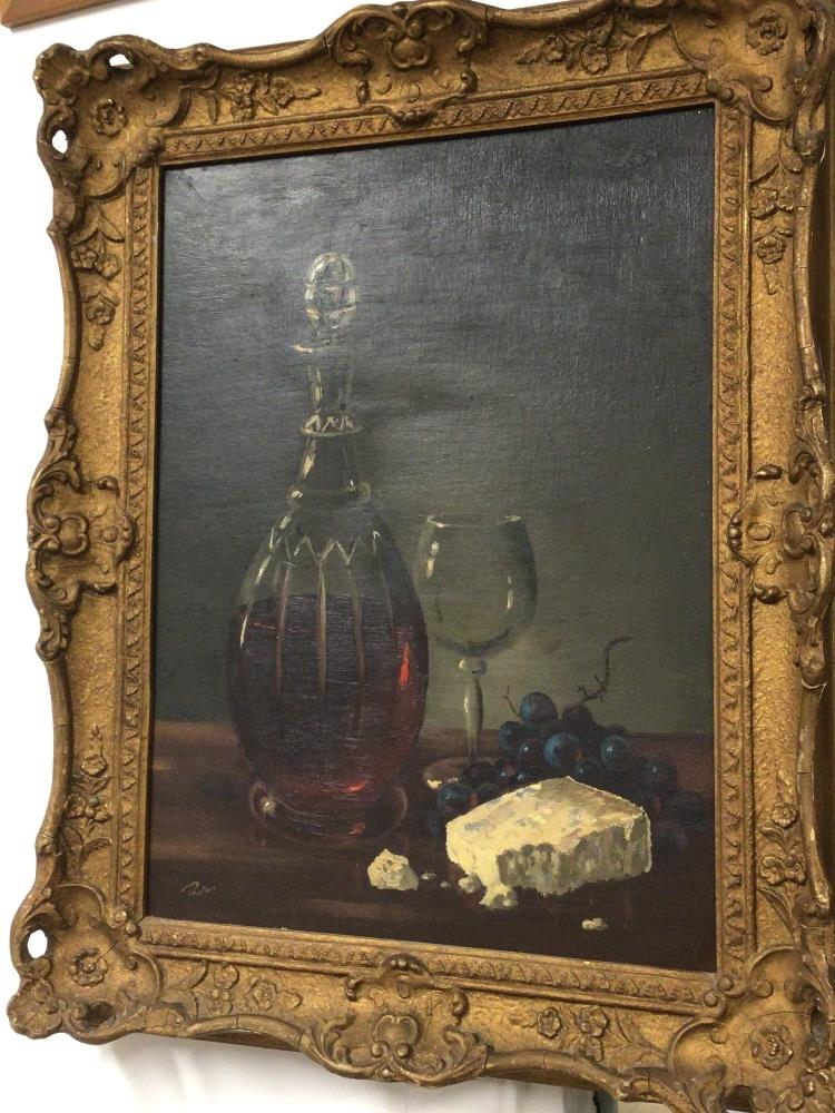 PAYTON OIL ON BOARD FRAMED, STILL LIFE, 51 X 41CM WITH AN OIL ON CANVAS FRAMED AND UNSIGNED (RIVER - Image 3 of 4