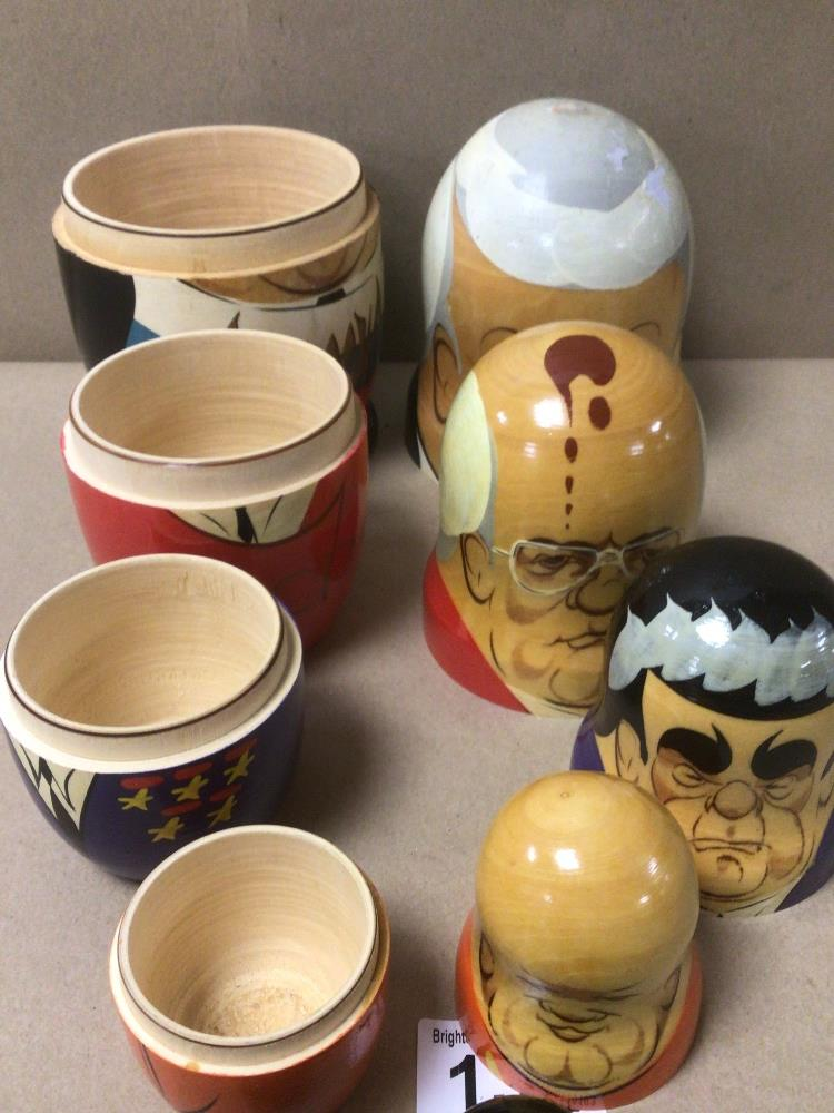 A SET OF RUSSIAN FORMER LEADERS NESTING DOLLS - Image 4 of 4