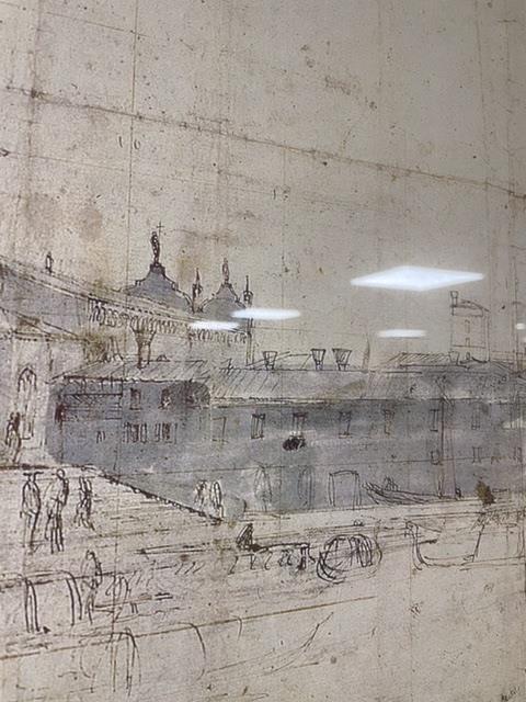 A LARGE VENITIAN PRINT (VANVITELLI) OF SANTA MARIA DELLA SALUTE, 121 X 47CM - Image 3 of 5