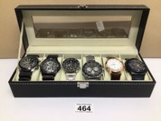 SIX GENTS WATCHES INCLUDES CASIO, CITIZEN AND MORE