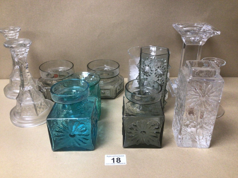 A COLLECTION OF MOSTLY DARTINGTON GLASSWARE, INCLUDES AT LEAST ONE DESIGNED BY 'FLOWERS' LARGEST - Image 5 of 7