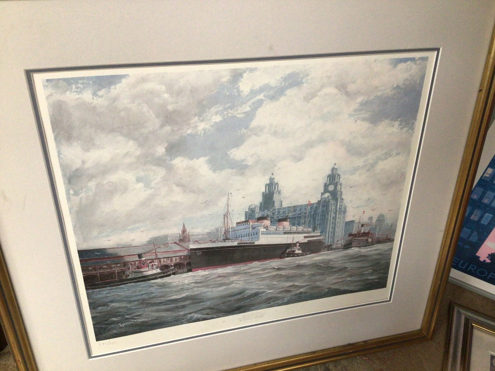 A LARGE QUANTITY OF SHIPS/BOATING PRINTS AND PHOTOGRAPHS, TITANIC CUNARD AND MORE, MOST FRAMED AND - Image 5 of 5