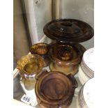 DAVIDSON AMBER COLOURED GLASSWARE ASHTRAY AND MORE