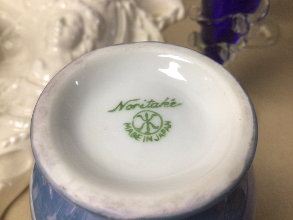 A MIXED COLLECTION OF MAINLY ORIENTAL PORCELAIN, INCLUDES NORITAKE AND MORE WITH SOME CONTAINING - Image 7 of 8