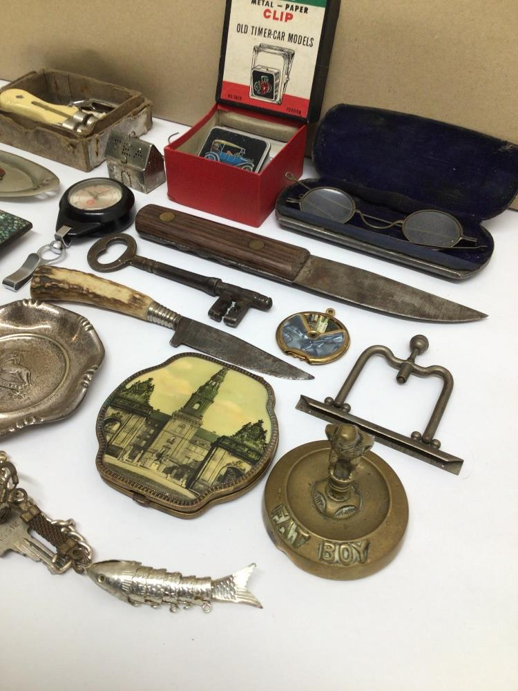 MIXED ITEMS INCLUDES STAHWX HORN HANDLE KNIFE, PICTURE FRAME, GLASSES AND MORE - Image 6 of 7