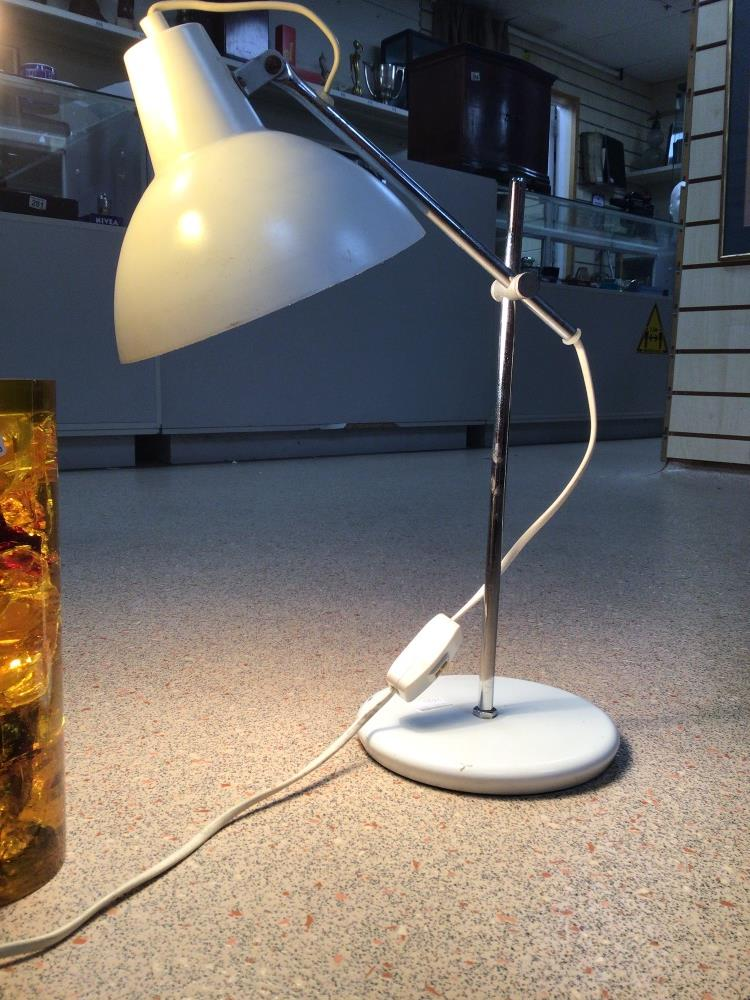 TWO MODERN LAMPS, ACRYLIC AND AMBER WITH ONE OTHER - Image 3 of 5