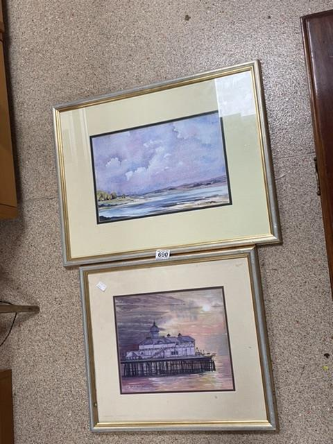 BRADLEY TWO SIGNED FRAMED AND GLAZED WATERCOLOURS BY LOCAL ARTIST, (BRIGHTON PIER AND AFTER THE - Image 4 of 10