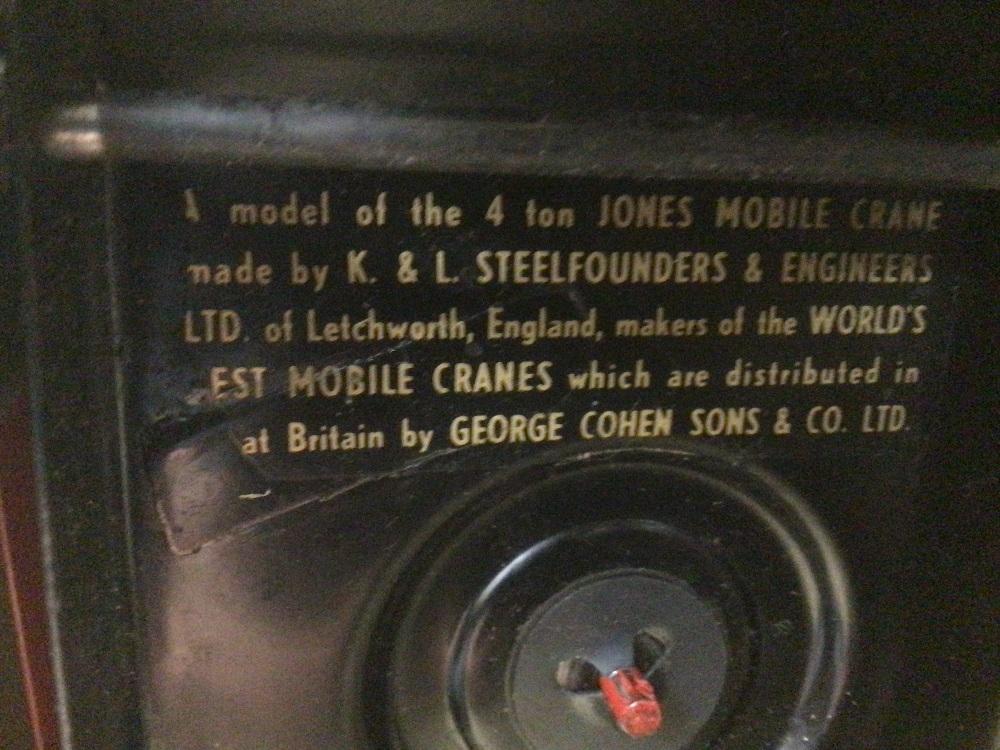 A BOXED TRIANG PREISTMAN GRAB JONES KL44 CRANE VINTAGE - Image 7 of 7