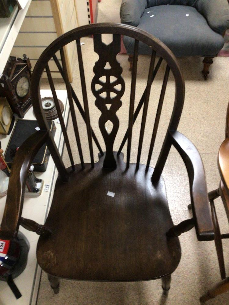 TWO WHEEL BACK ARMCHAIRS - Image 2 of 3