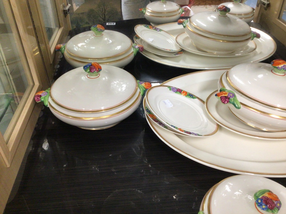 BOOTHS CHINA PART DINNER SERVICE (EMBOSSED FRUIT) EIGHT PIECES - Image 6 of 6