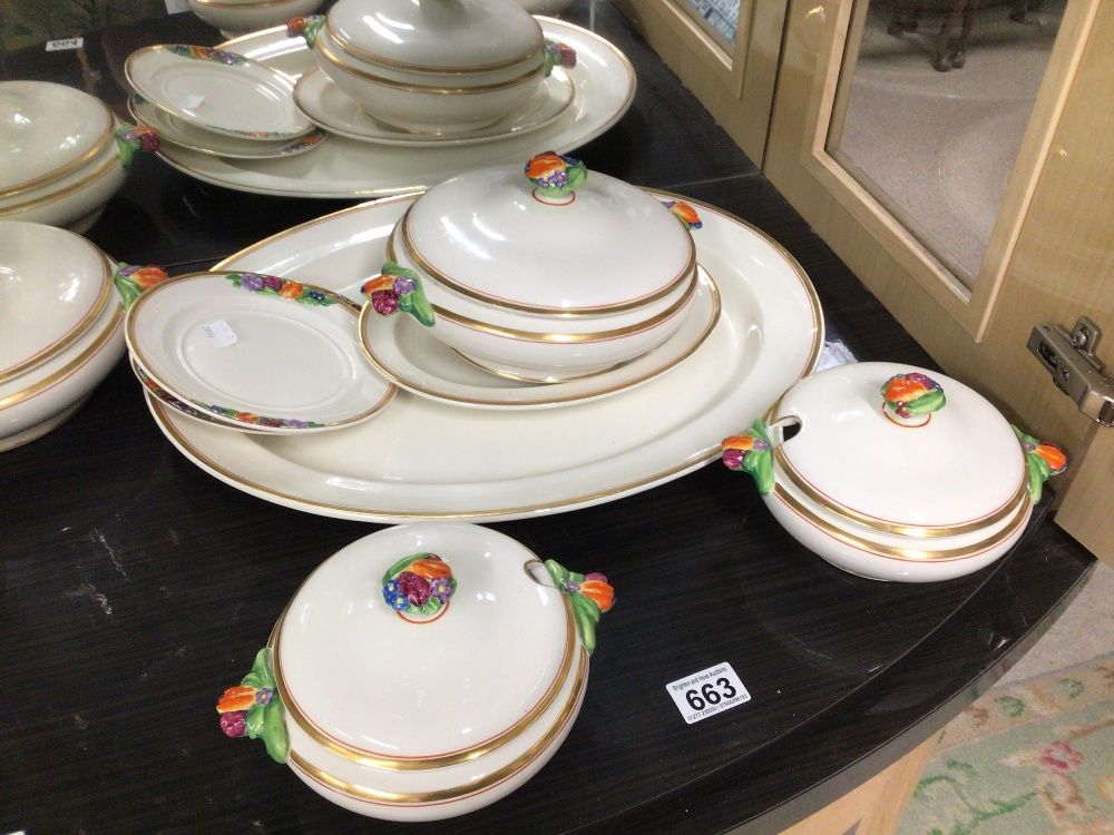 BOOTHS CHINA PART DINNER SERVICE (EMBOSSED FRUIT) EIGHT PIECES - Image 5 of 6