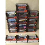 SIXTEEN BOXED DIE-CAST TOYS 1:76 SCALE BUSES/COACHES