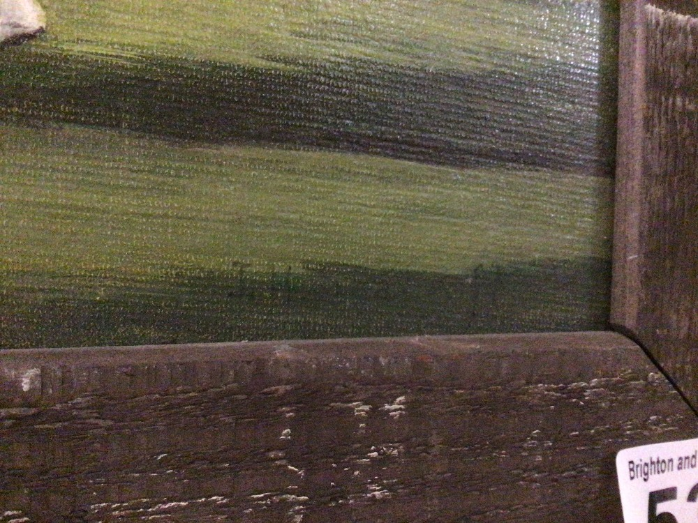 V.H.SEACROFT, FRAMED OIL ON BOARD TITLED CRICKET AT BRAY 71 X 46CM - Image 2 of 5