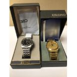 TWO BOXED SEIKO GENTS WATCHES BOTH AUTOMATICS