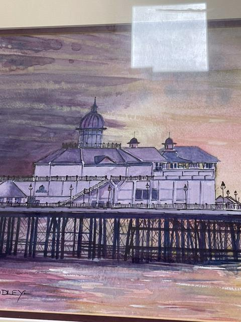 BRADLEY TWO SIGNED FRAMED AND GLAZED WATERCOLOURS BY LOCAL ARTIST, (BRIGHTON PIER AND AFTER THE - Image 9 of 10