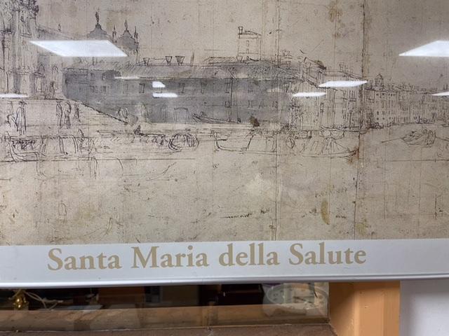 A LARGE VENITIAN PRINT (VANVITELLI) OF SANTA MARIA DELLA SALUTE, 121 X 47CM - Image 2 of 5
