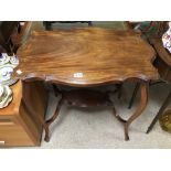 A VINTAGE TWO TIER TABLE, 70 X 45 X 73CM