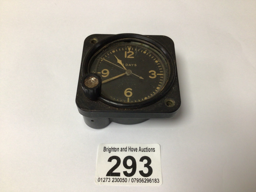 A WWI 1943 US AIRCRAFT ELGIN 8 DAY CLOCK, 6CM