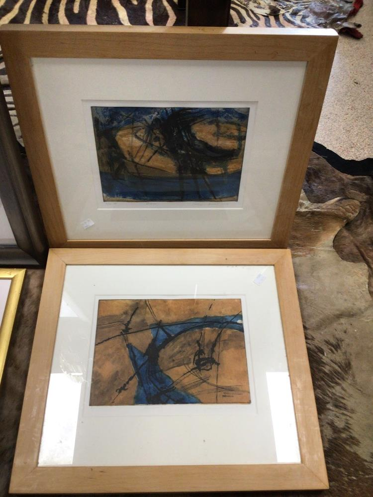 THREE LIMITED EDITION PRINTS WITH A FRAMED WATERCOLOUR, LARGEST PRINT BY JONATHAN SHAW RUBYSKIES II, - Image 2 of 8