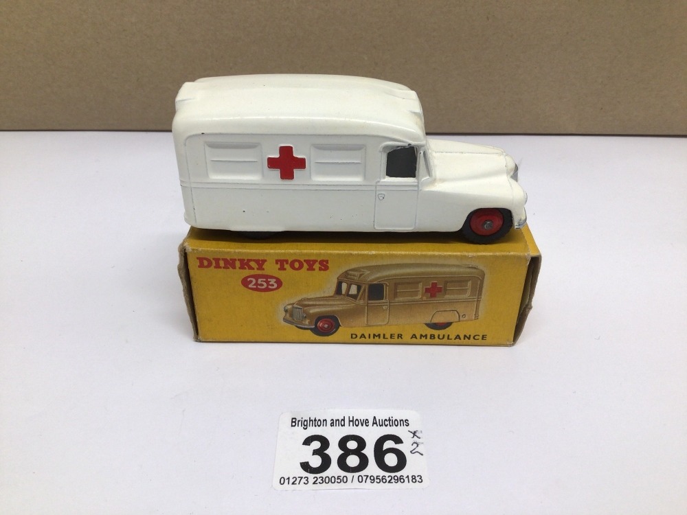 A BOXED DIE-CAST DINKY 253 DAIMLER AMBULANCE