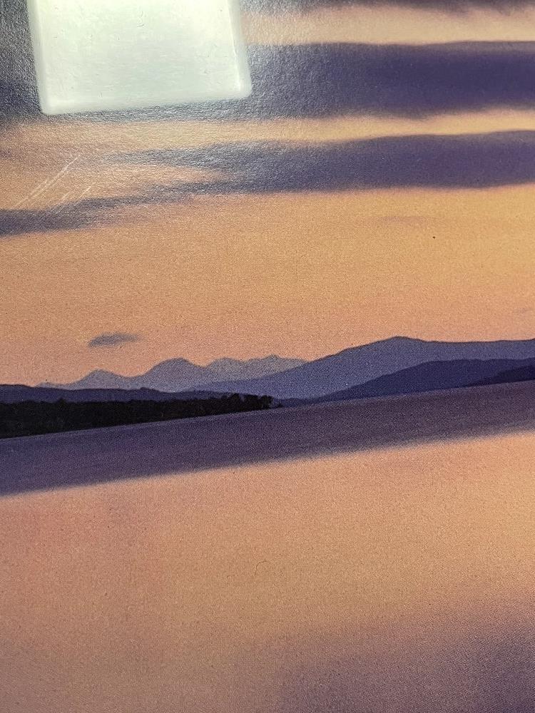 DAVID NOTON, TITLED SCOTTISH HIGHLANDS, LOCH RANNOCK AT DUSK PHOTOGRAPH FRAMED AND GLAZED, 108 X - Image 6 of 8