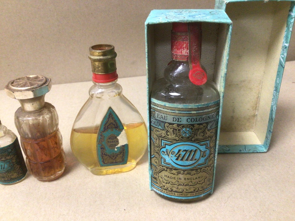 NINE SMALL VINTAGE OF MIXED COLOGNE AND PERFUME BOTTLES, ONE BOXED, SOME WITH CONTENTS, INCLUDES NO. - Image 2 of 5