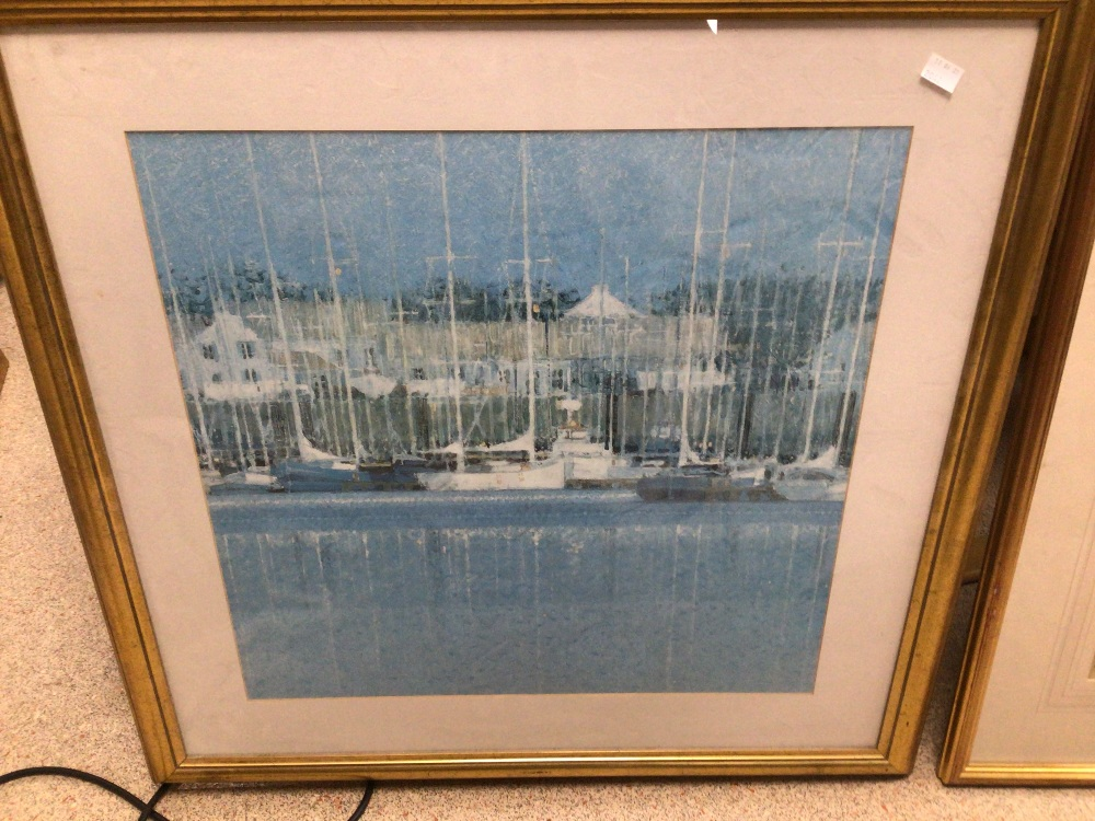 A QUANTITY OF MAPS MOST OF WHICH ARE UNFRAMED WITH A YACHTING FRAMED AND GLAZED PRINT - Image 2 of 4