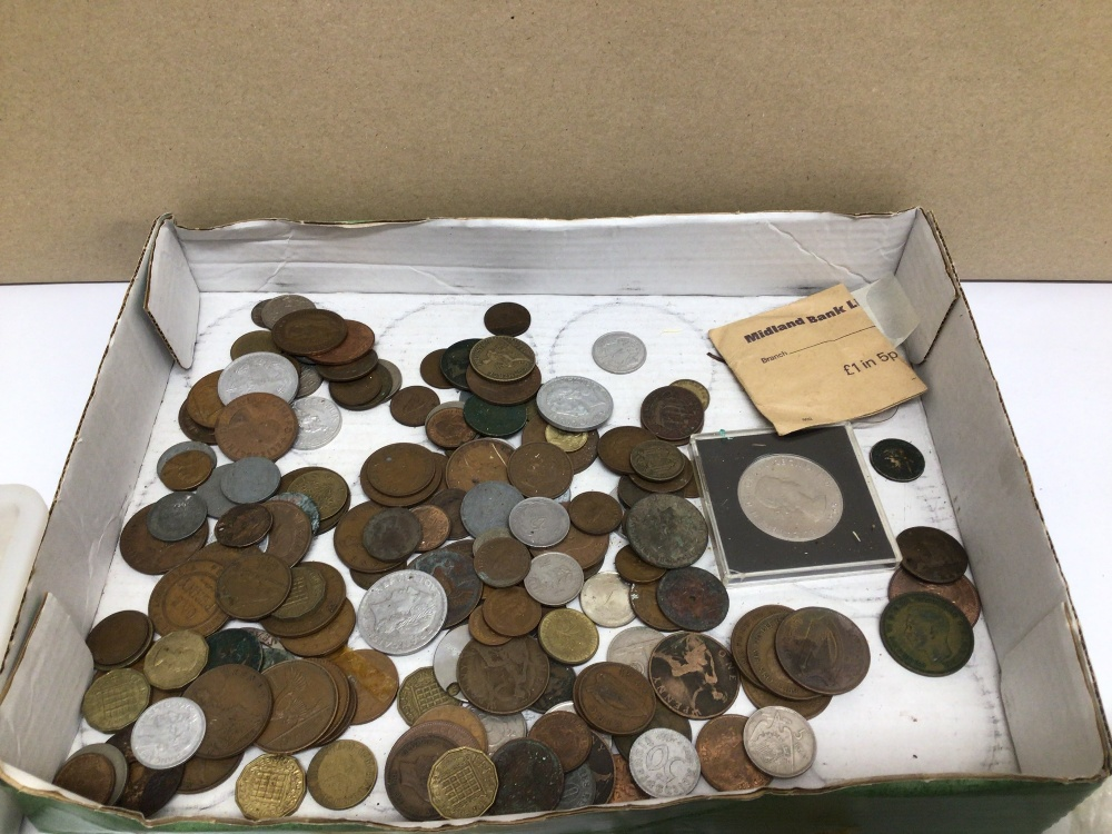 A QUANTITY OF USED COINAGE, FOREIGN AND ENGLISH - Image 3 of 5