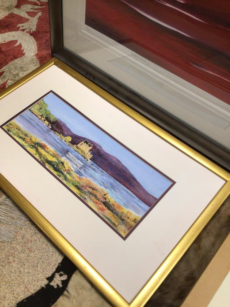 THREE LIMITED EDITION PRINTS WITH A FRAMED WATERCOLOUR, LARGEST PRINT BY JONATHAN SHAW RUBYSKIES II, - Image 6 of 8