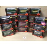 A COLLECTION OF GILBOW EXCLUSIVE FIRST EDITIONS DIE-CAST MODELS OF DOUBLE DECKER BUSES IN BOXES 1: